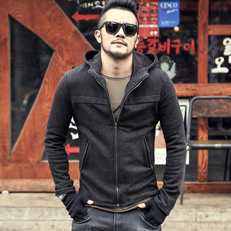 2018 Men hoodie Sweatshirt Cotton brand design New Men Winter Hip Hop Zipper casual hooded solid coat mens warm jacket Autumn