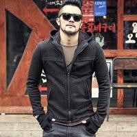 2018 Men hoodie Sweatshirt Cotton brand design New Men Winter Hip Hop Zipper casual hooded solid coat mens warm jacket Autumn