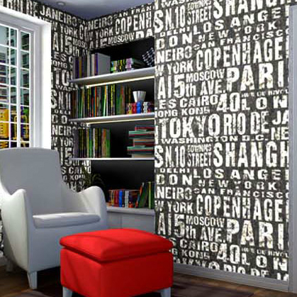 10M PVC Waterproof Word English Letter Modern Wallpaper Roll Simple Embossed Desktop Vintage Wall Paper Wall Coverings футболка dc shoes майка letter word tk m kttp