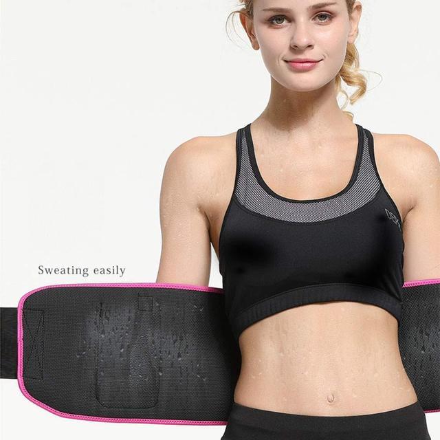 Sport Sweat Belt with Phone Pocket Tummy Stomach Lumbar Sweat Wrap Waist Trimmer Trainer Girdle Slimming Body Shaper Belt 5