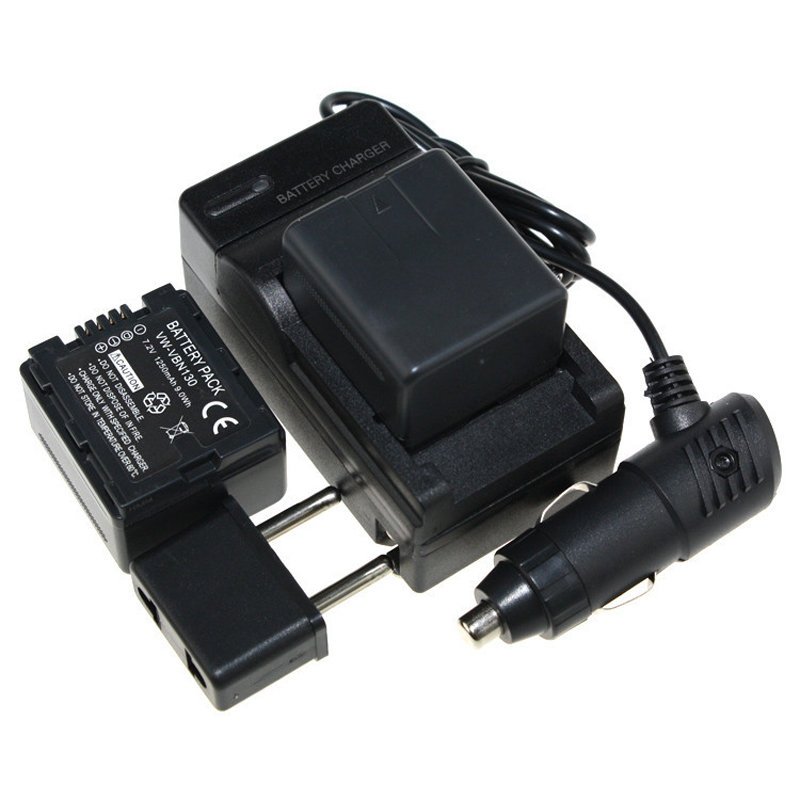 5PCS Set 2 VW VBN130 VW VBN130 VWVBN130 Battery Battery Charger car charger For Panasonic