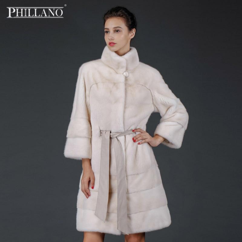 PHILLANO  Classic Winter Fur Coat Collar Warm Women's Clothing Genuine Mink Scandinavia Denmark NAFA  YG14006-90