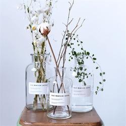 Minimalist Chic Glass Storage Jars Scandinavian Vogue Elegance Transparent Desk Storage Bottle Organizer Flower Container Decor