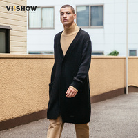 VIISHOW Cardigan Men Sweaters 2017 Knitwear Button Long Mens Cardigans Top Quality Brand Clothing Male Christmas Coat ZC1760173