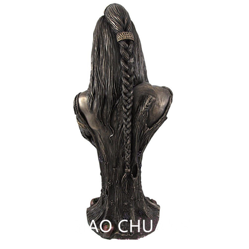 Mother Earth Goddess Danu Half-Length Photo Or Portrait Creative Alloy Sculpture Desktop Decoration Office G1553