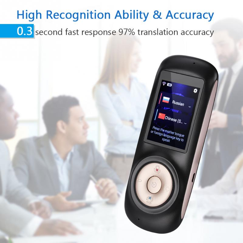 US $73 27 28% OFF|Smart Wireless Translator T2S Real Time Instant Voice  Translation Multi language Support 52 Languages Wifi touch Screen-in