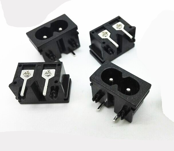 curved needle 2 hole socket AC power socket 10pcs lot