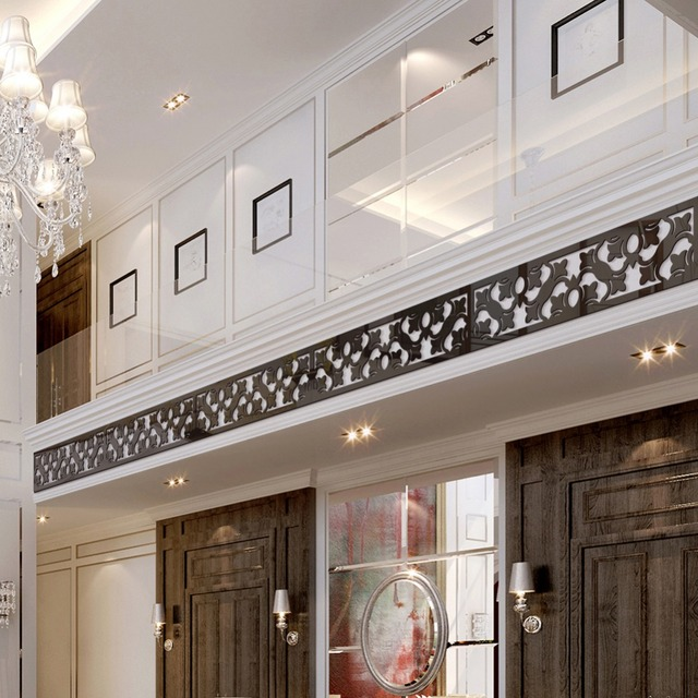 Ceiling Background Wall Border Waistline Skirting Acrylic Mirror Wall  Stickers Home Decor Living Room Stickers Muraux