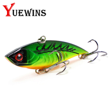 Купить с кэшбэком Yuewins Vib Fishing Lure 6.5cm 10.7g Sinking Artificial Hard Bait Crankbait Wobblers Winter Fishing Pesca Hooks Fish Pesca TP7