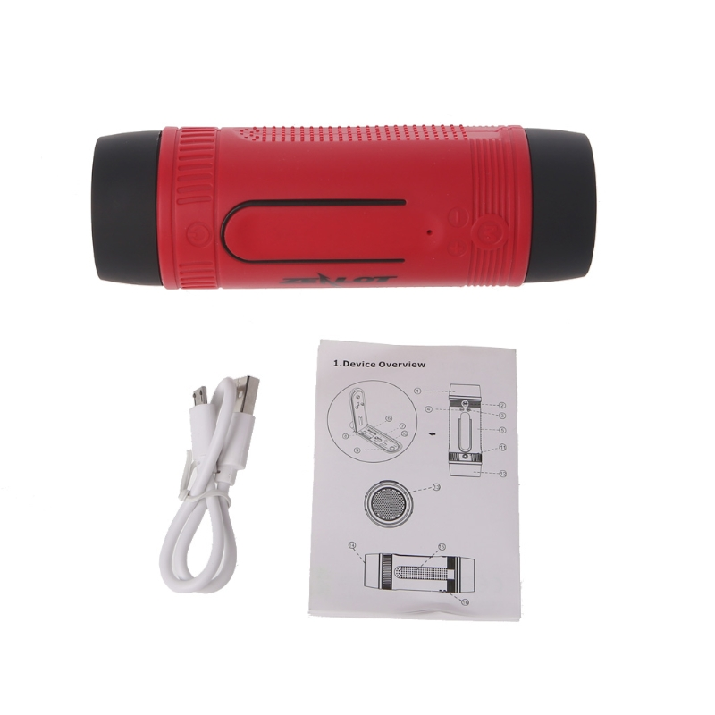 Portable Waterproof Bluetooth Wireless Speaker Outdoor LED Flashlight TF FM Radio – L060 New hot