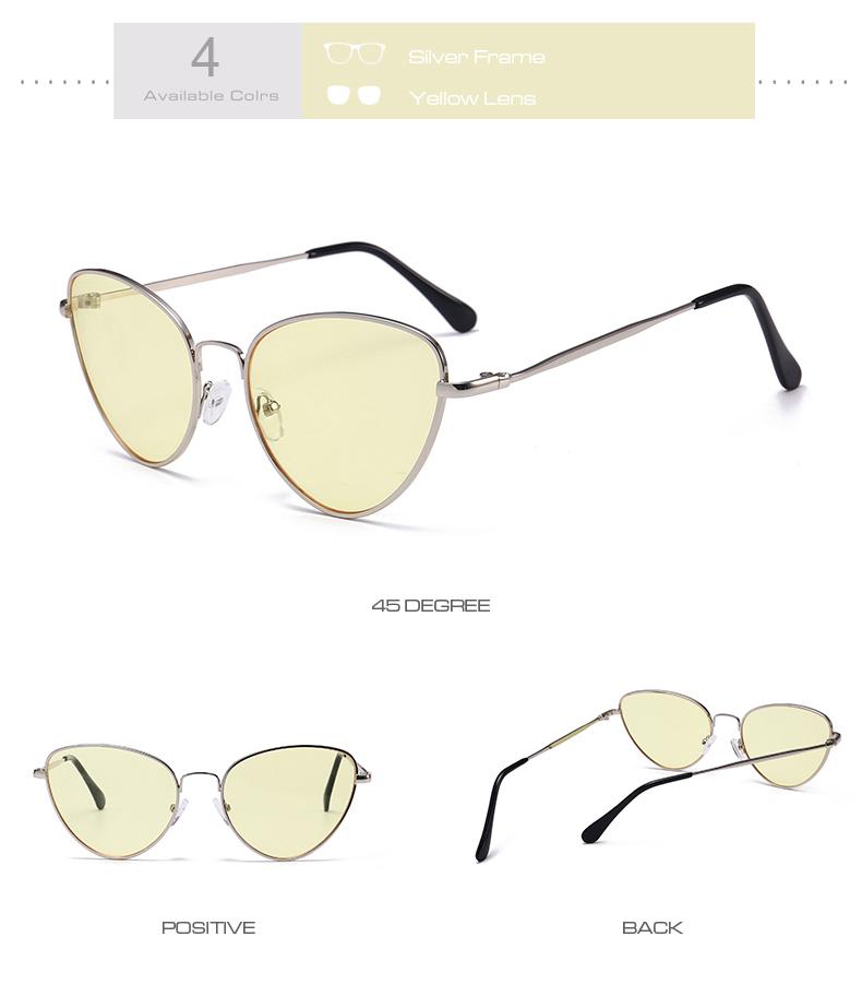 Gafas de sol de ojo de gato Vintage pequeñas y sexis para mujer 8