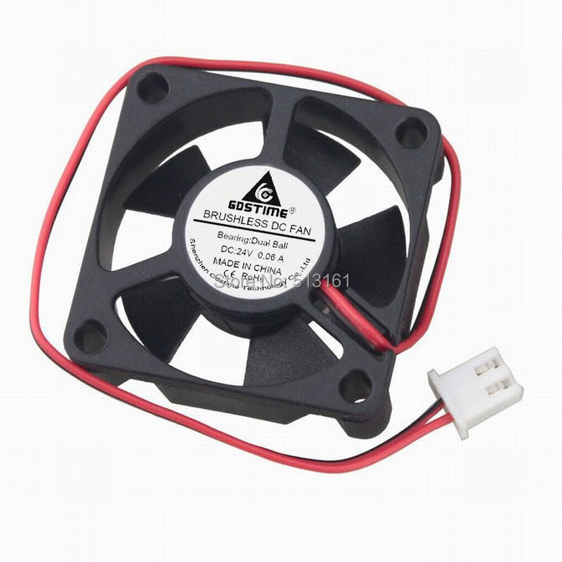 5Pcs Gdstime 35mm 35x35x10mm 24V 2Pin Dual Ball Bearing Mirco Brushless DC Cooling Cooler Fan