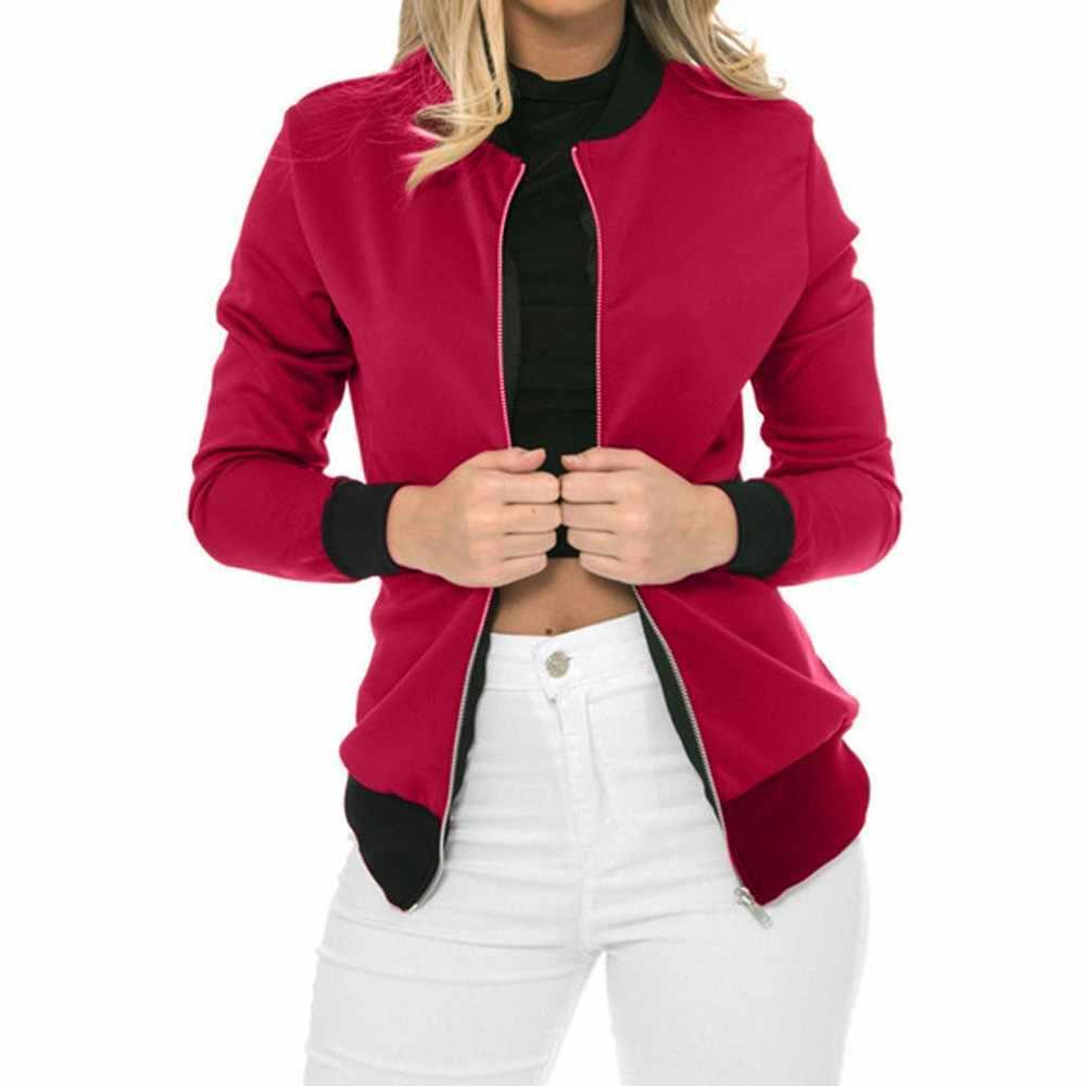 KANCOOLD 2018 nowy jesień kurtka Bomber moda z długim rękawem trwały płaszcz topy damskie nieformalne okrycie wierzchnie płaszcz PJ0724