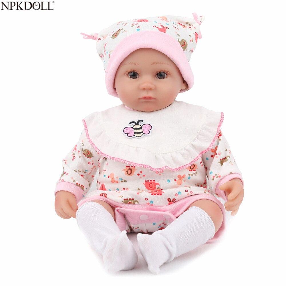 Bébé Reborn Silicone poupée jouet réaliste pour fille réaliste doux Reborn bébé cadeaux de noël pour enfants Brinquedos