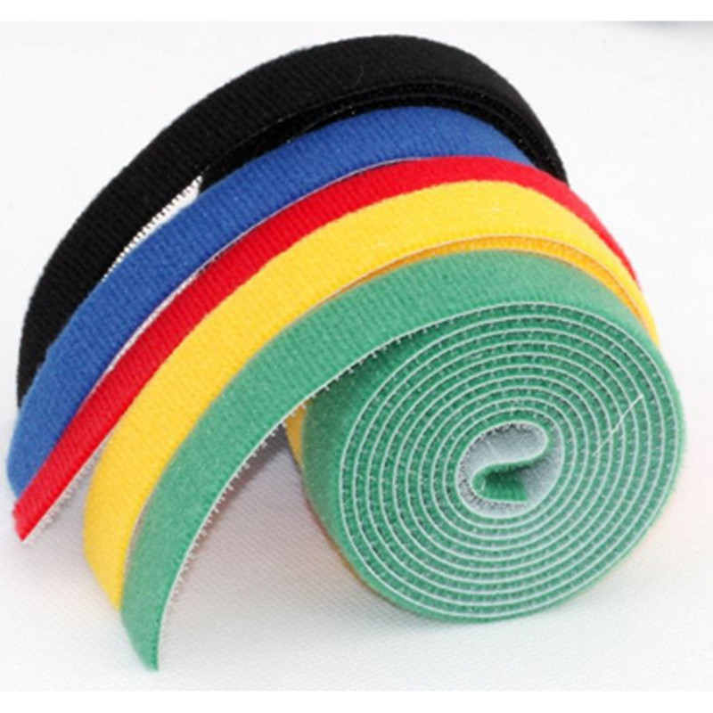 1 UNIDS Multicolored 10mm * 5m Width Magic Hook Restraining Back Nylon Ties Reusable Fixed Tape Klittenband
