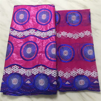 bazin riche getzner 2018 african fabric for dress with stones 2yards tulle lace 7yards/lot JJ182 1