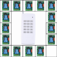 220V 15CH 30A Relay RF Wireless Light Switch Wireless Remote Control Switch Transmitter Radio Receive Controller