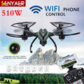 Original JXD 510 W RC Drone 2.4 GHz 4CH 6 Axis Gyro WIFI FPV Cámara HD Modo Sin Cabeza de Una Tecla de Retorno Quadcopter Toy Boy regalo