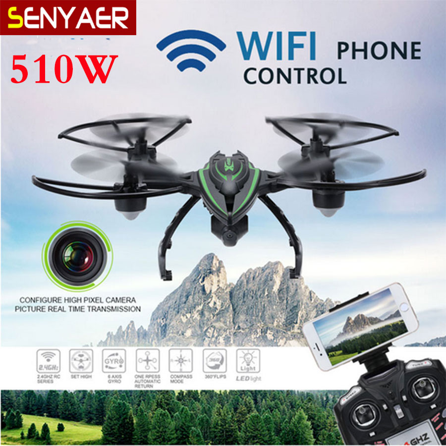 Original JXD 510W RC Drone 2.4GHz 4CH 6 Axis Gyro WIFI FPV HD Camera Headless Mode One Key Return Quadcopter Toy Boy Gift jxd 509w wifi fpv rc quadcopter rtf 2 4ghz with camera headless mode one key return christmas gift jxd 509 wifi version