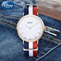 2017 Brand Disney Watches Men Women Fashion Casual Sport Clock Classical Nylon Male Quartz Wrist Watch