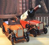 Classic Wooden Classic car model Creative Wood Wine Racks Wine storage box Office Desktop Wine Racks Household wood furnishings