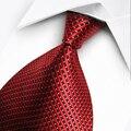 T30 Мужские 2016 Мода Синий Красный Серая Полоса Плед Fomal бизнес Галстуки для Мужчин Классический Шелковый Полиэстер Человека Жаккарда Сплетенные галстук