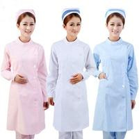 Summer 3 Color Nurse Uniform Coat Hat Medical Robe Hospital Nurse Uniform Women Medical Uniforms Ladies
