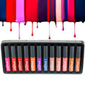 1 set Matte Makeup Lipgloss Liquid Lipstick Waterproof Lip Gloss lip makeup cosmetic beauty lipgloss set 12 colors Popfeel