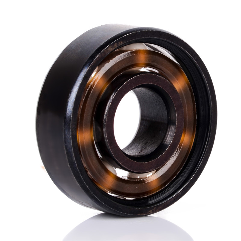 1 Piece New Wear Resistance 608 Ball Bearing Ceramic Alloy Inline Speed For Finger Spinner Skateboard Ball Bearings Mayitr hot 608 full ceramic bearing zro2 ball bearing 8x22x7mm zirconia oxide new with corrosion resistance