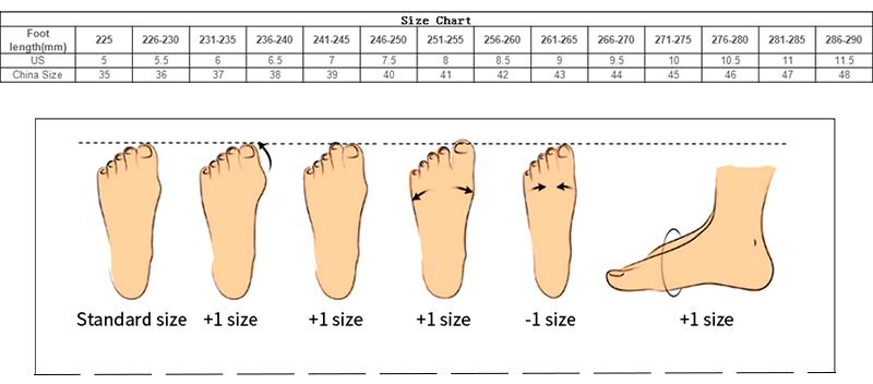 MenShoes Women Shoes Size