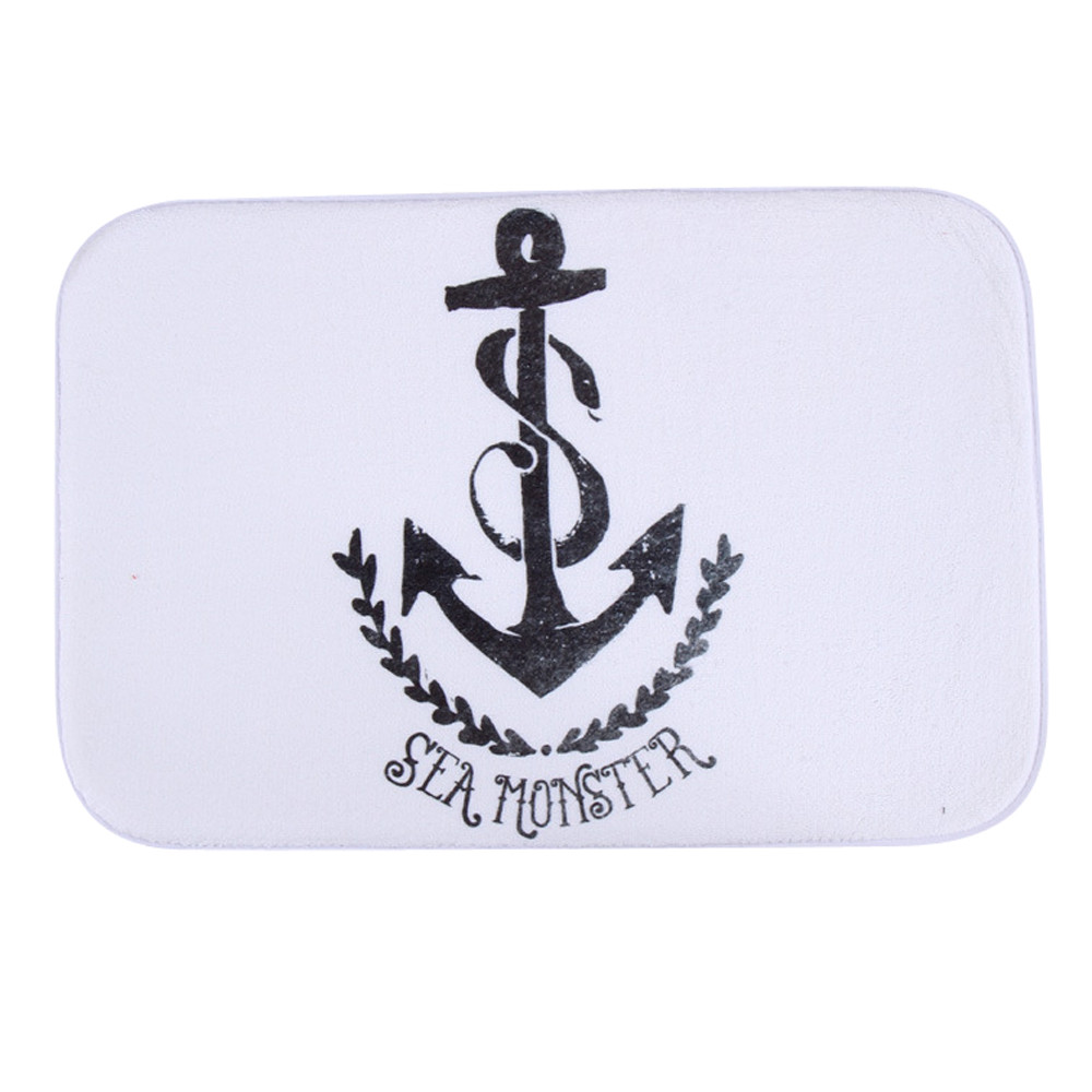 Rainbow Anchor Antiskid Floor Decal Cartoon Ground Removable Doormat Mat New