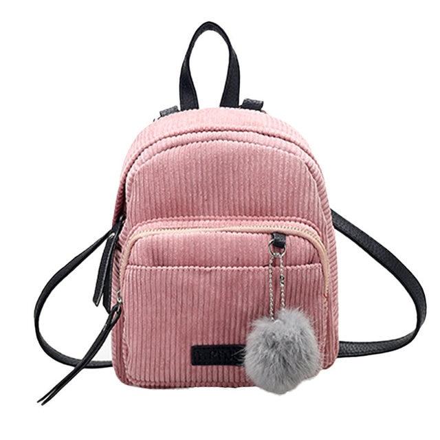 3dc8cadf22c5 2017 Most Popular Women Leather Backpacks Schoolbags Travel Shoulder Bag  Mini Corduroy Fashion Rucksack Wholesale Mochila