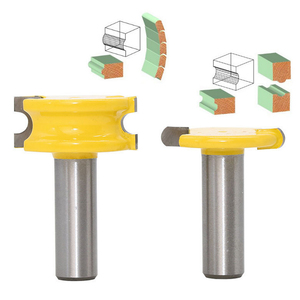 "Image 5 - 2 Pc 1/4 ""Of 1/2"" Schacht Kano Fluit En Kraal Kano Joint Router Bit Cutter Houtbewerking Bits Hout frees"