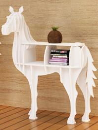 Creative shelf shelf. Horse modelling porch desk side a few animals