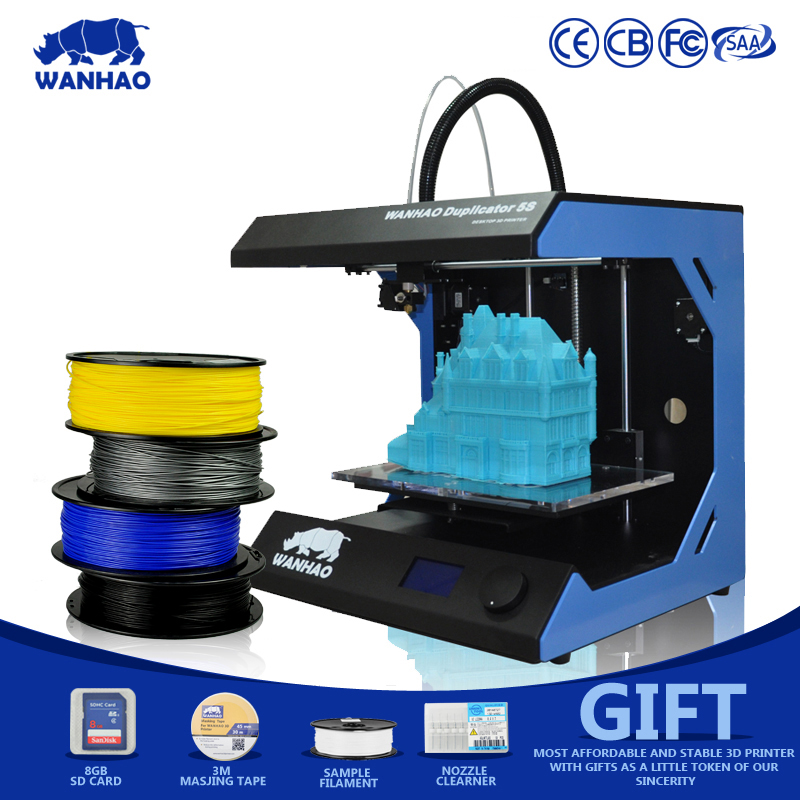 Hot Sale WANHAO D5S Mini 3d Printer,DIYMetal Framekit LCD3d-Printer,Big PrintingSizewith 400m Filament, 8GB SD CardFor Free hot sale wanhao d4s 3d printer dual extruder with multicolor material in high precision with lcd and free filaments sd card