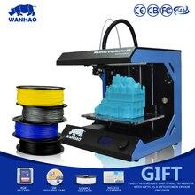Горячие Продажи WANHAO D5S Мини 3d Принтер, DIYMetal Framekit LCD3d-Printer, Большой PrintingSizewith 400 м Нити, 8 ГБ SD CardFor Бесплатный