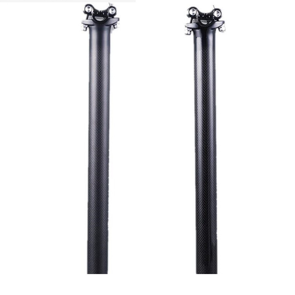 new arrive NO LOGO Road Mountain Bike 3K Glossy Matte Carbon Fiber Bicycle Seatpost Bike Seat posts 27.2 30.8 31.6*300mm