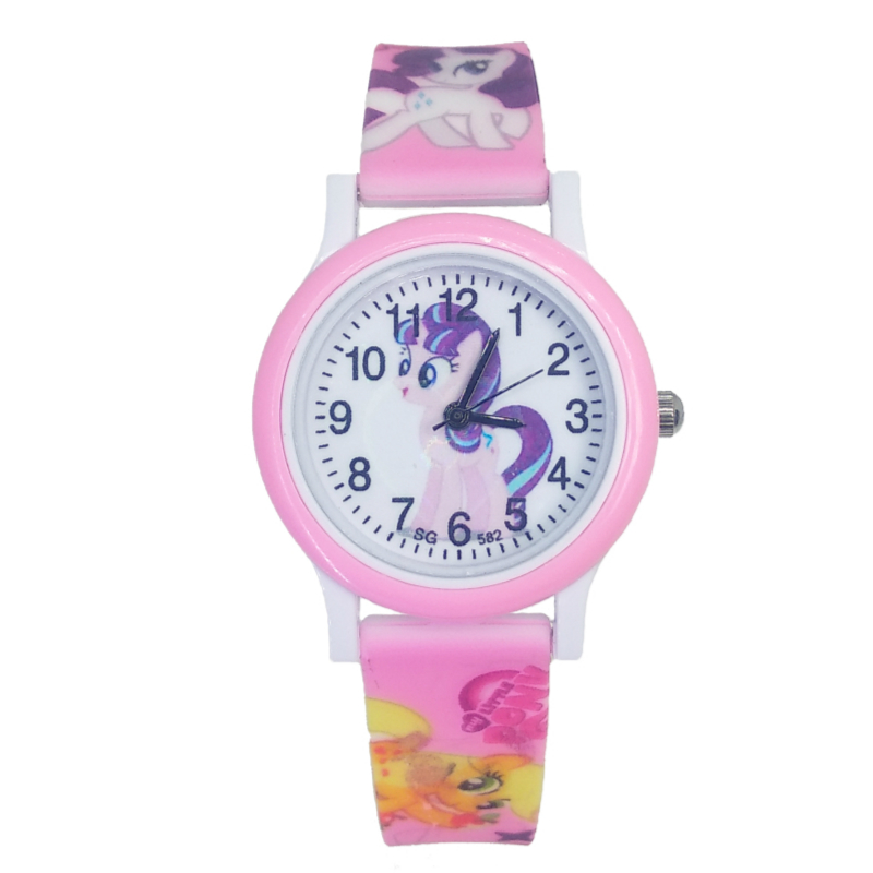Cute Cartoon Pretty Unicorn Watch Children Kids Watches Girls Students Clock Quartz Wristwatches Pony Watch For Baby Party Gifts