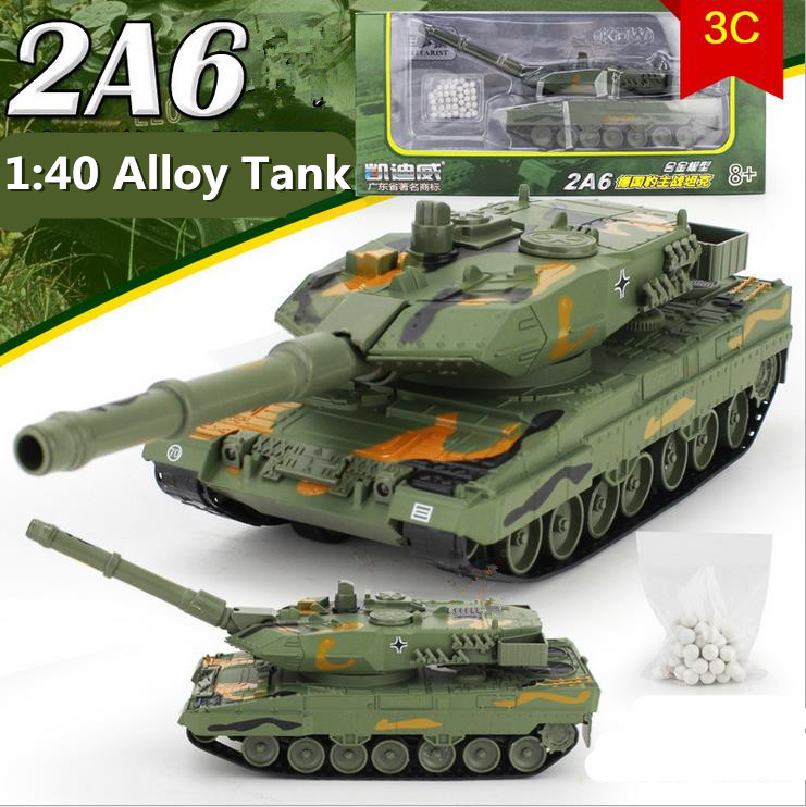 Military Vehicles For Sale >> Us 61 74 5 Off Hot Sale 1 40 Alloy Tank Military Model Tanks German Leopard 2a6 Pull Back Flashing Rotation Tank Free Shipping In Diecasts Toy