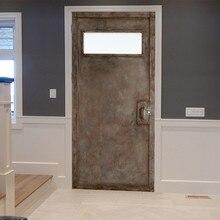 77*200 см креативная ржавая железная дверная Наклейка ПВХ самоклеющиеся водонепроницаемые обои для домашнего декора наклейка для гостиной спальни