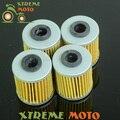 4 * limpeza do filtro de óleo para kawasaki kx250f kxf250 kxf kx 250f 250 04-15 Motocicleta Motocross Enduro da Bicicleta Da Sujeira De Corrida Off Road ATV