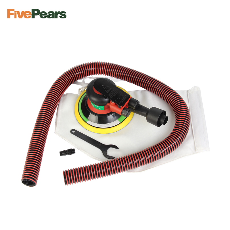 Free shipping Wholesale 6 Inches air Sander with Vacuum 150mm Pneumatic Sander 6 Air Sanding Machine Pneumatic Tools FivePears