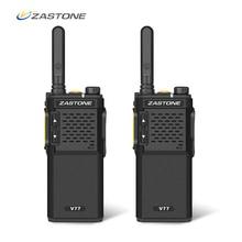 2 ピース Zastone V77 ポータブルトランシーバー UHF 400 470 mhz 16CH ミニトランシーバーアマチュアアマチュア無線 Communicator HF トランシーバ