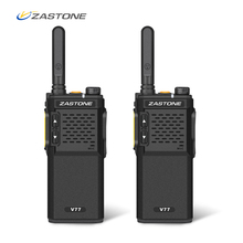2 pcs V77 Zastone Walkie Talkie UHF 400 470 mhz Portátil 16CH Mini Walkie Talkies Presunto Amador Rádio Comunicador HF Transceptor