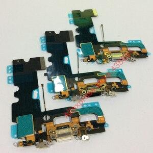 Image 4 - قطع غيار كابل مرن لهوائي الميكروفون لهاتف iPhone 7 أصلي وجديد لشحن منفذ USB وشاحن مزود بكابل مرن