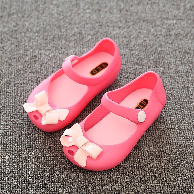 6cb1ba124 summer sandals New Little girls kids Jelly Shoes cute lovely 2017 cute Knot  Soft princess sandals ...