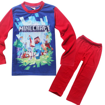 6 14 Years Childrens Clothes Kids Boys Pyjamas Kids Pajamas Sets Kids Clothes Nightwear Toddler Pink Red Long Sleeve Cute Suit