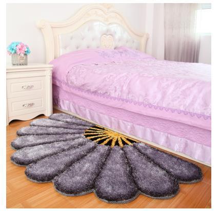 80X150 см утолщенные секторные ковры для спальни, современные 3D коврики с изображением цветов и ковров, диван-пол, детский игровой коврик, половик с цветочным рисунком - Цвет: Светло-серый