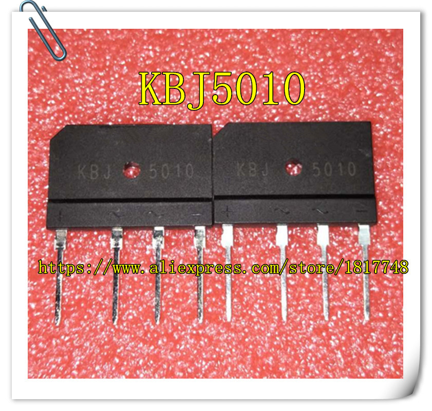 10pcs/lot KBJ5010  GBJ5010 5010 50A 1000V Bridge Rectifier
