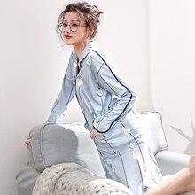 Camisón de algodón puro para mujer, estampado de bombilla, largo, informal, para el hogar, Primavera, 2020